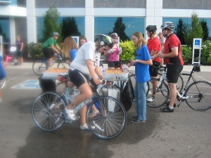 Heading out for 2nd loop on the bike.