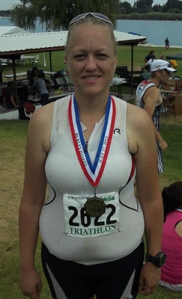 Me after Spudman 2013. I came in 3rd in my age group. :)