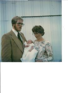 Me at 1 month old at my blessing/christening.