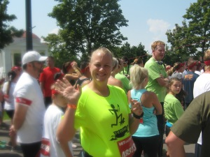 My silly face at the starting line!
